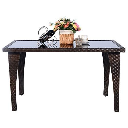 Brown Garden Rattan Wicker Coffee Table
