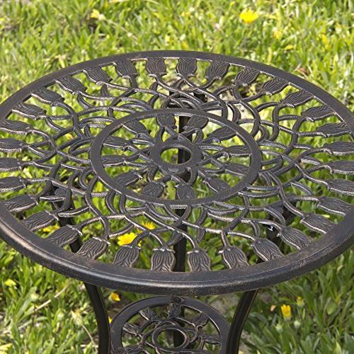 Best Choice Products Aluminum Patio Furniture Set Antique Copper
