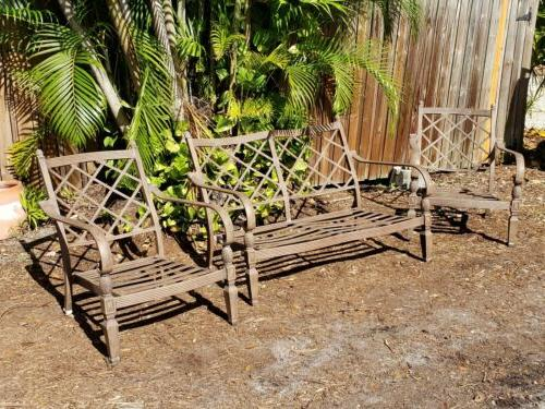 Cast Patio 2 Chairs Loveseat