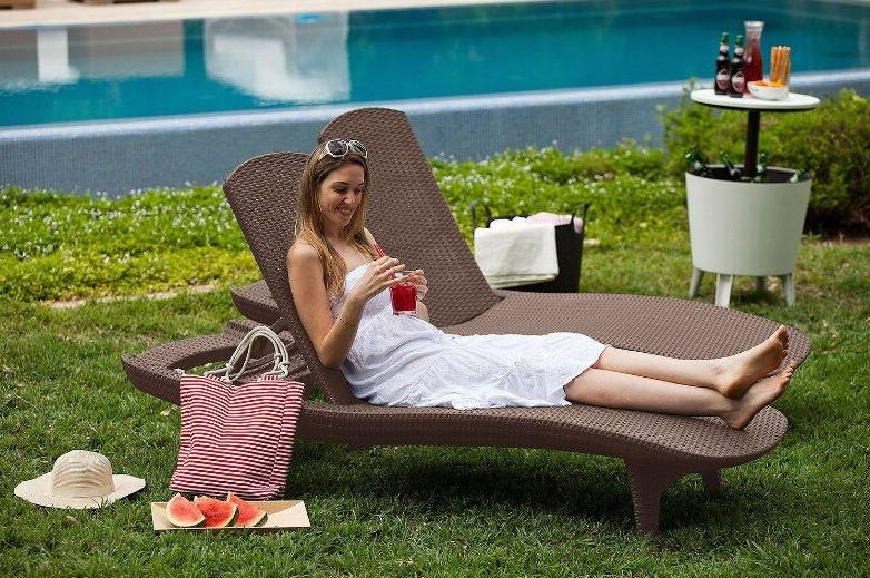 Keter Chaise Lounge Pack Brown UV Pool