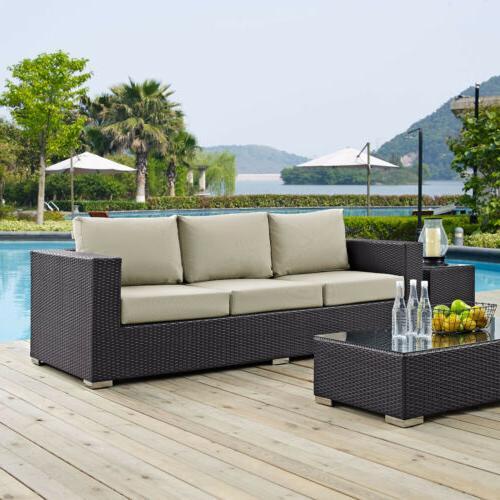 convene outdoor patio sofa espresso beige eei