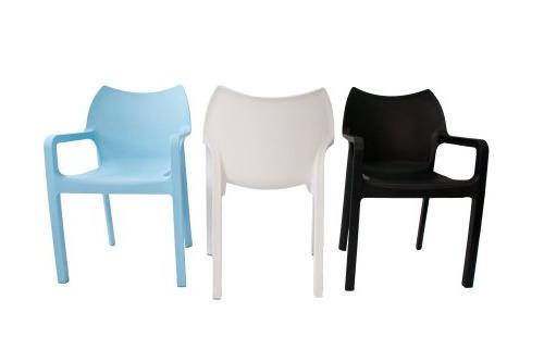 Compamia Diva Patio Chair in Black