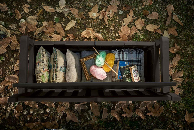 Keter Eden 70 Storage Bench Deck for Porch Dec
