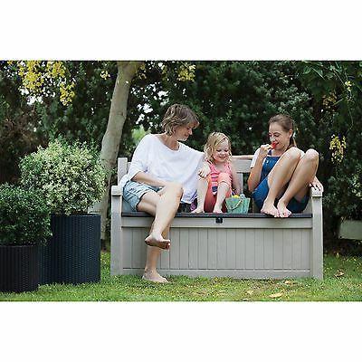 Keter Eden 70 gal. Outdoor Patio Storage Bench Box