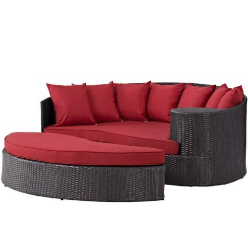 Modway Furniture EEI-2176-EXP-RED Convene Outdoor Patio Dayb