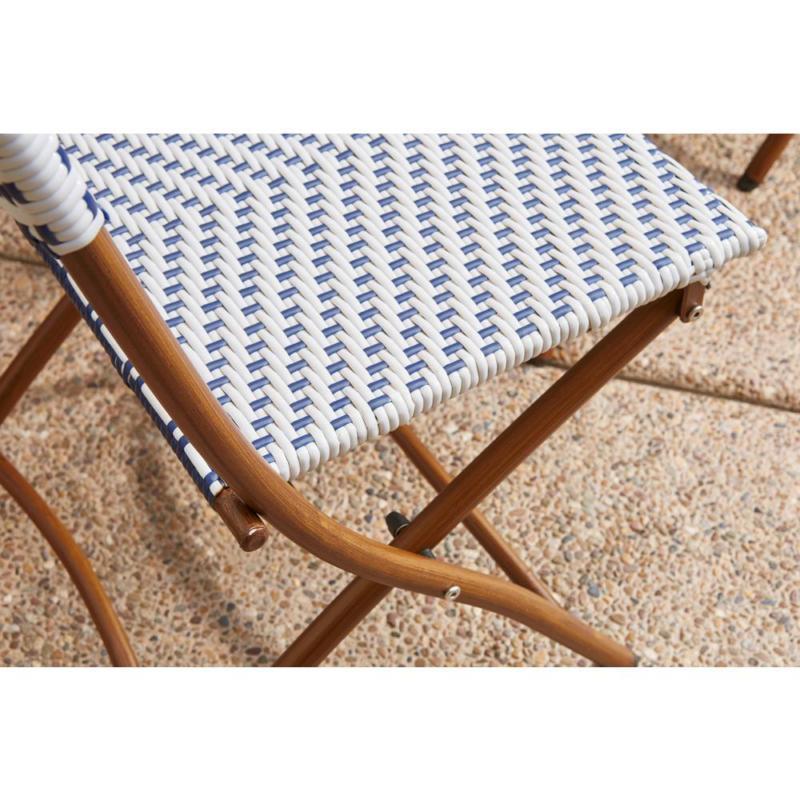 Hampton Folding Set Table Wicker Furniture