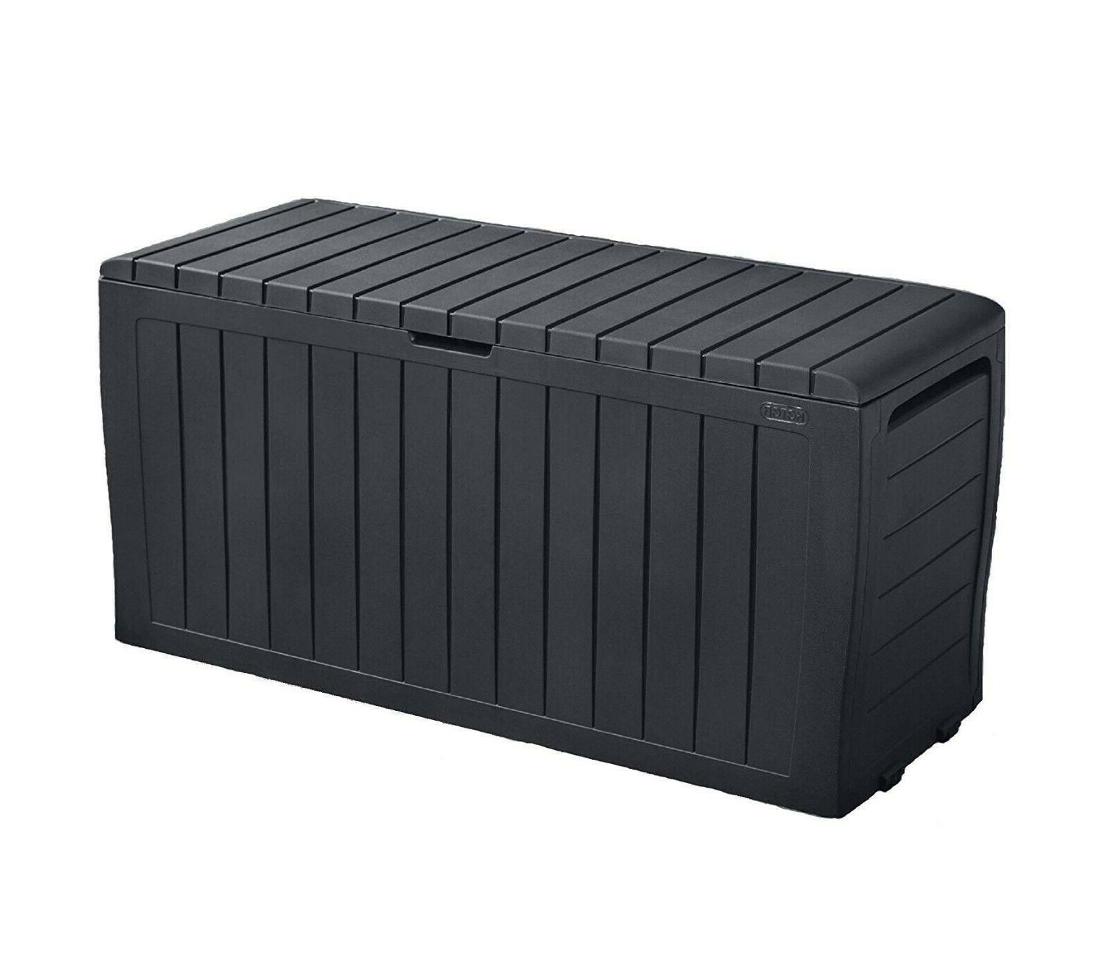 Keter Gallon Resin Outdoor Storage Furniture Cushion Storage-Large