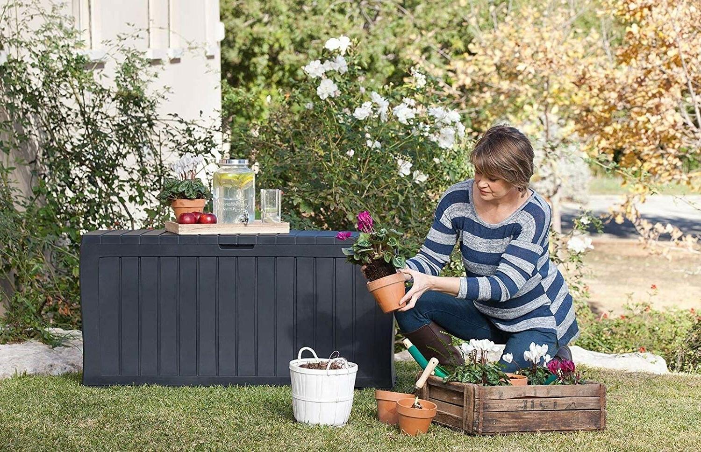 Keter Resin Outdoor Storage for Furniture Cushion Storage-Large
