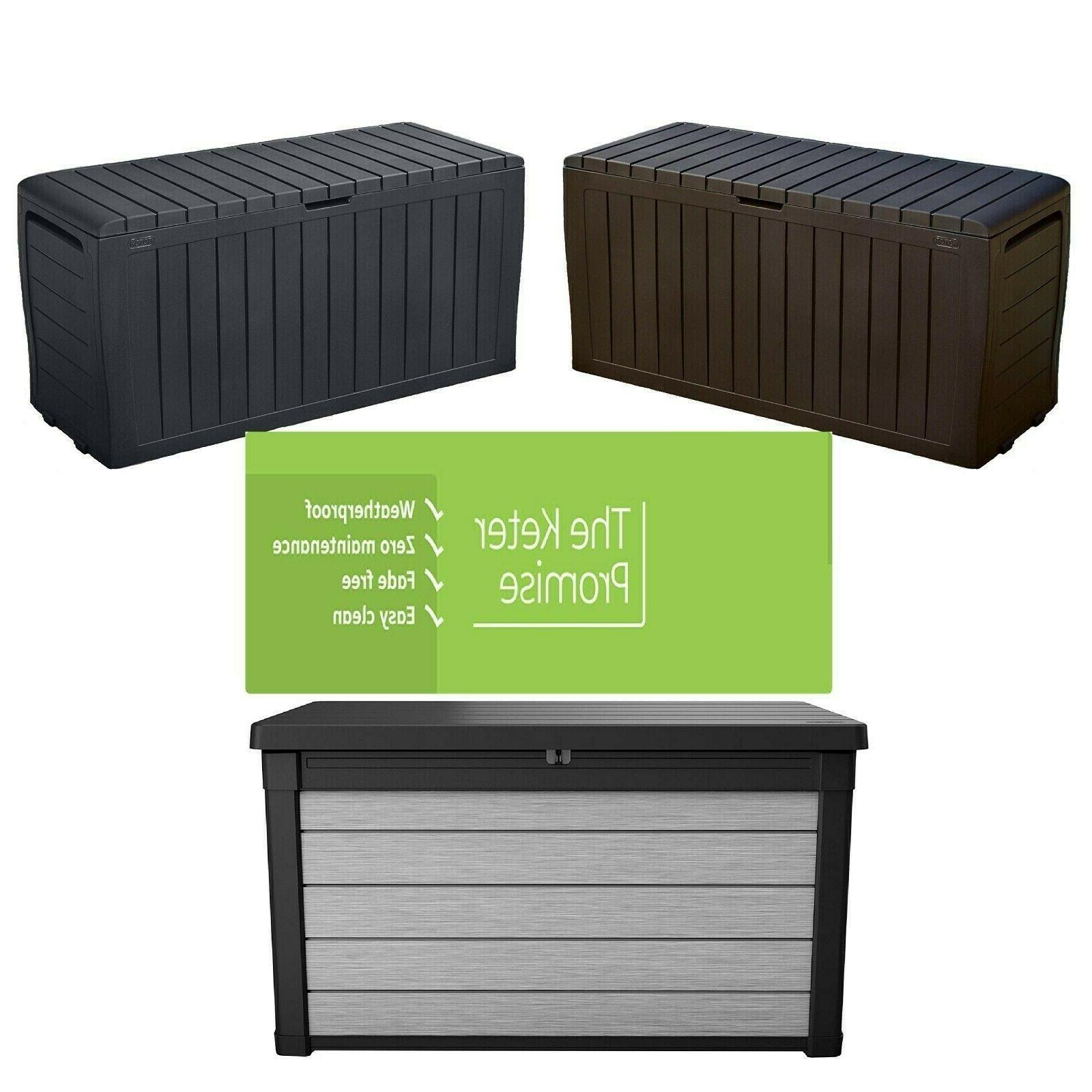 gallon resin outdoor storage box for patio