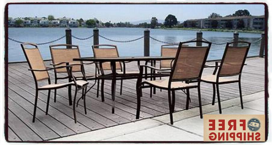 7 Piece Patio Garden Lawn Furniture Dining Set Chairs Table