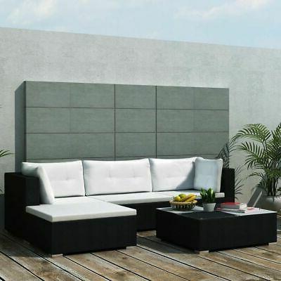garden sofa set black poly