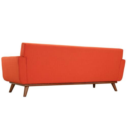 Modway Modern Upholstered Sofa Atomic Red