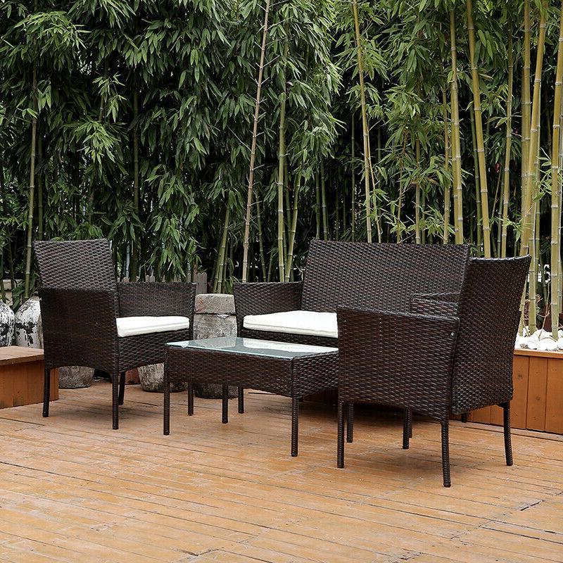 Furniture Rattan Table Conversation