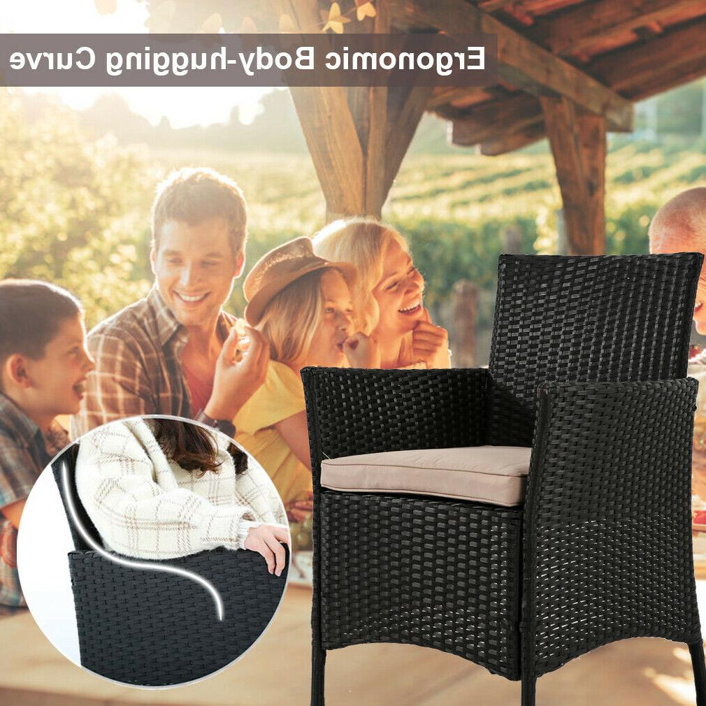 Patio Pcs Rattan Chair Wicker Conversation
