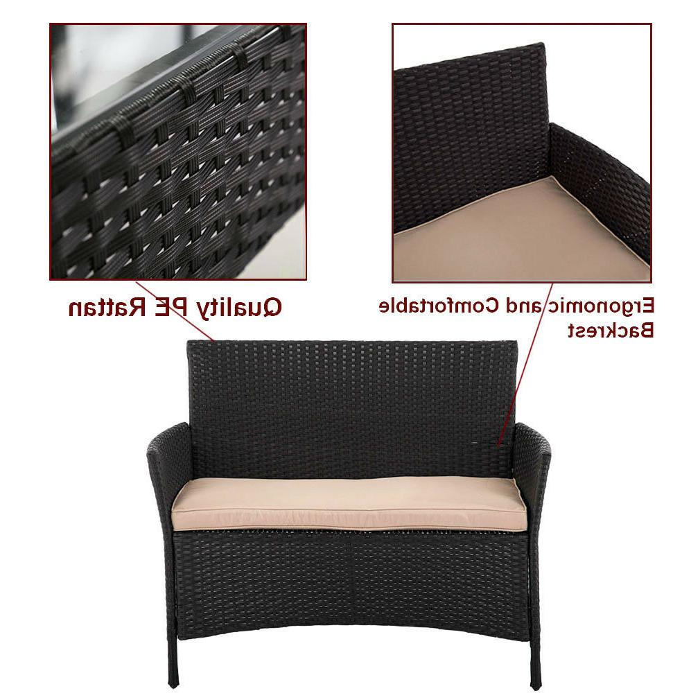 Patio Set Pcs Rattan Chair