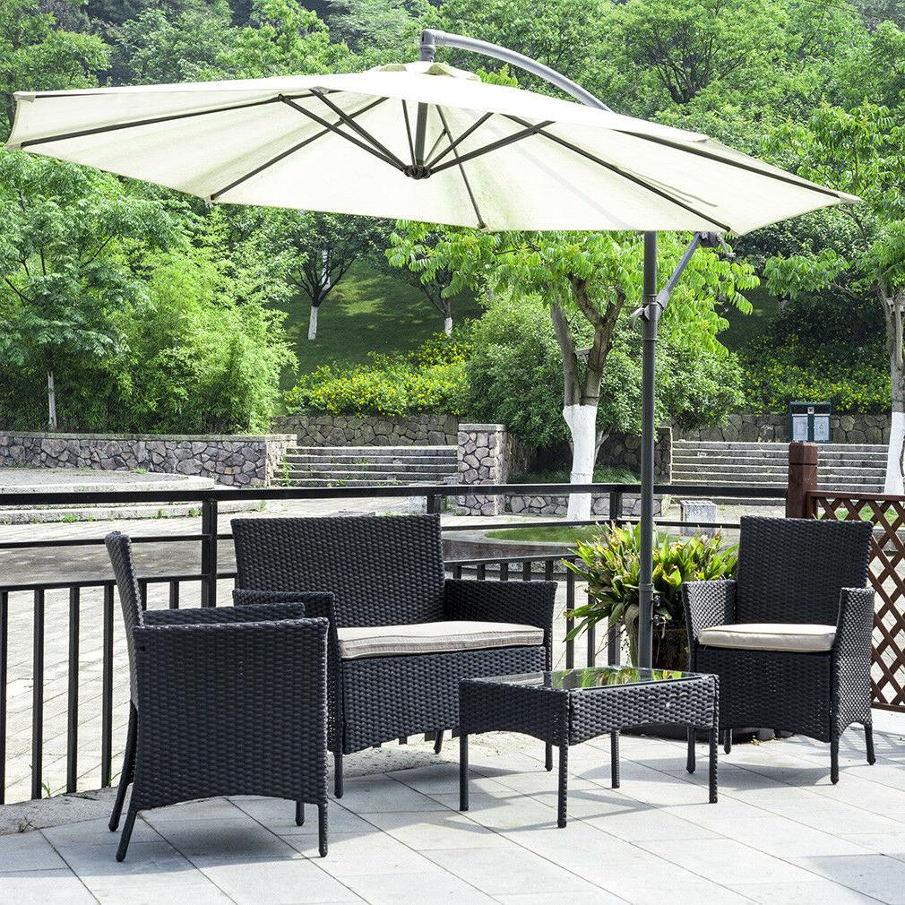 new patio wicker furniture outdoor 4pc rattan