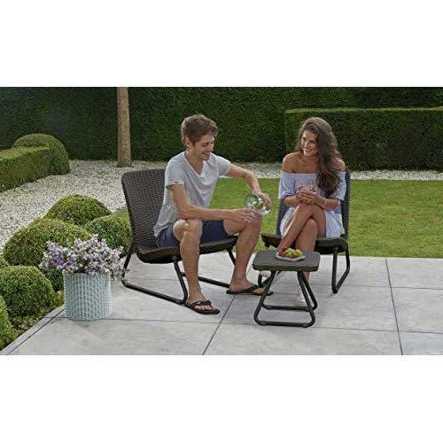 Outdoor Conversation Set Patio Furniture 3 PC Weather 2 Chairs Garden