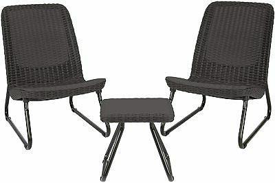 outdoor conversation set patio furniture 3 pc