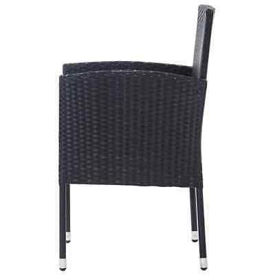 vidaXL Outdoor Set 5 Rattan Black Garden Furniture