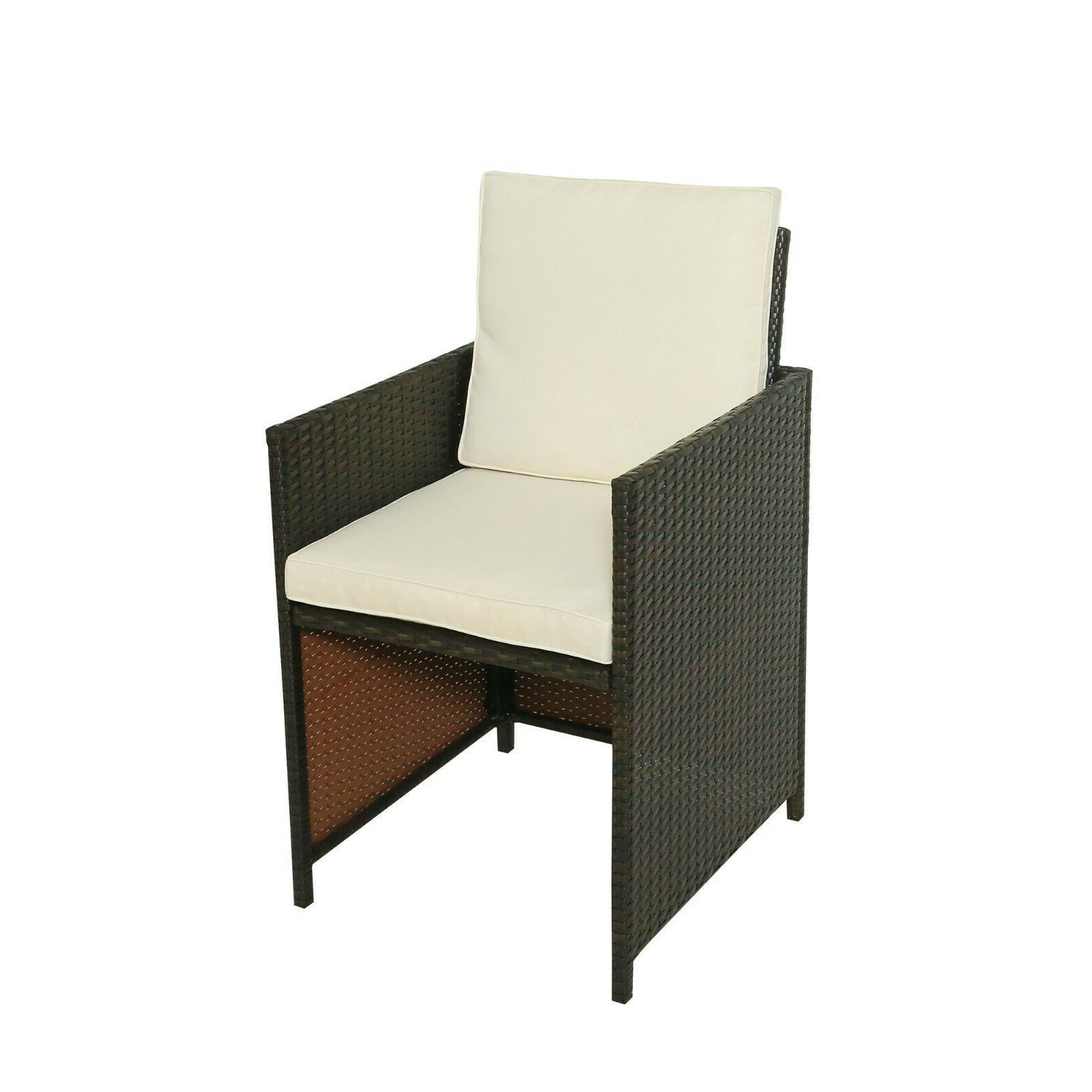 Outdoor Dining Table Rattan Set Family Warranty