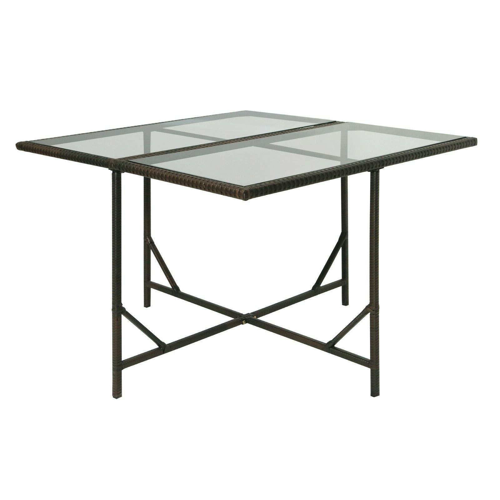 Outdoor Dining Table Set Rattan Patio Set