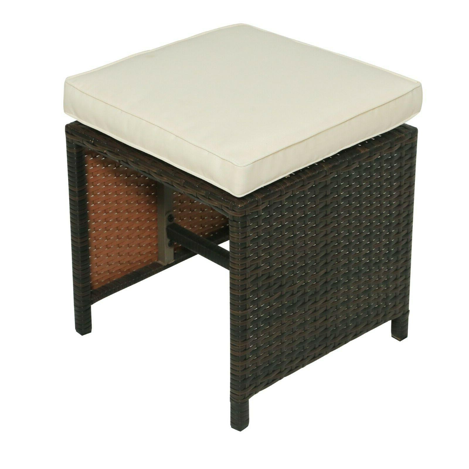 Outdoor Dining Table Rattan Patio Set Family Party Warranty