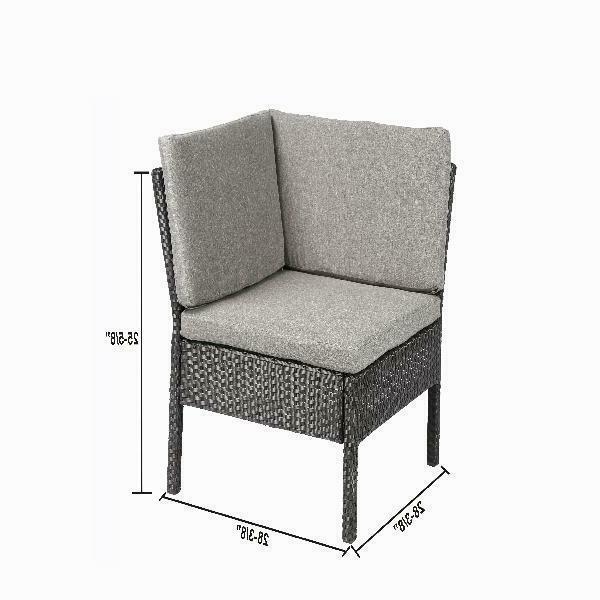 Outdoor Wicker Sectional Corner Sofa