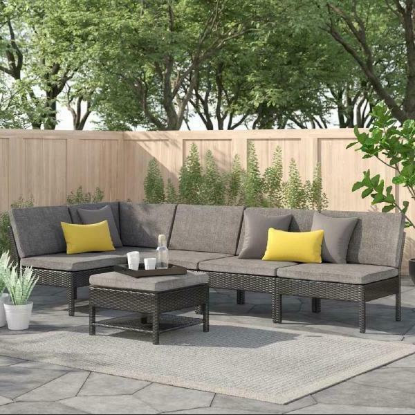 outdoor furniture patio pe wicker rattan garden