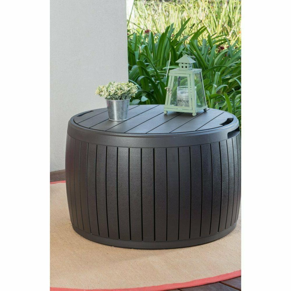 Outdoor Patio Coffee Table Deck Yard Garden Rattan Furniture