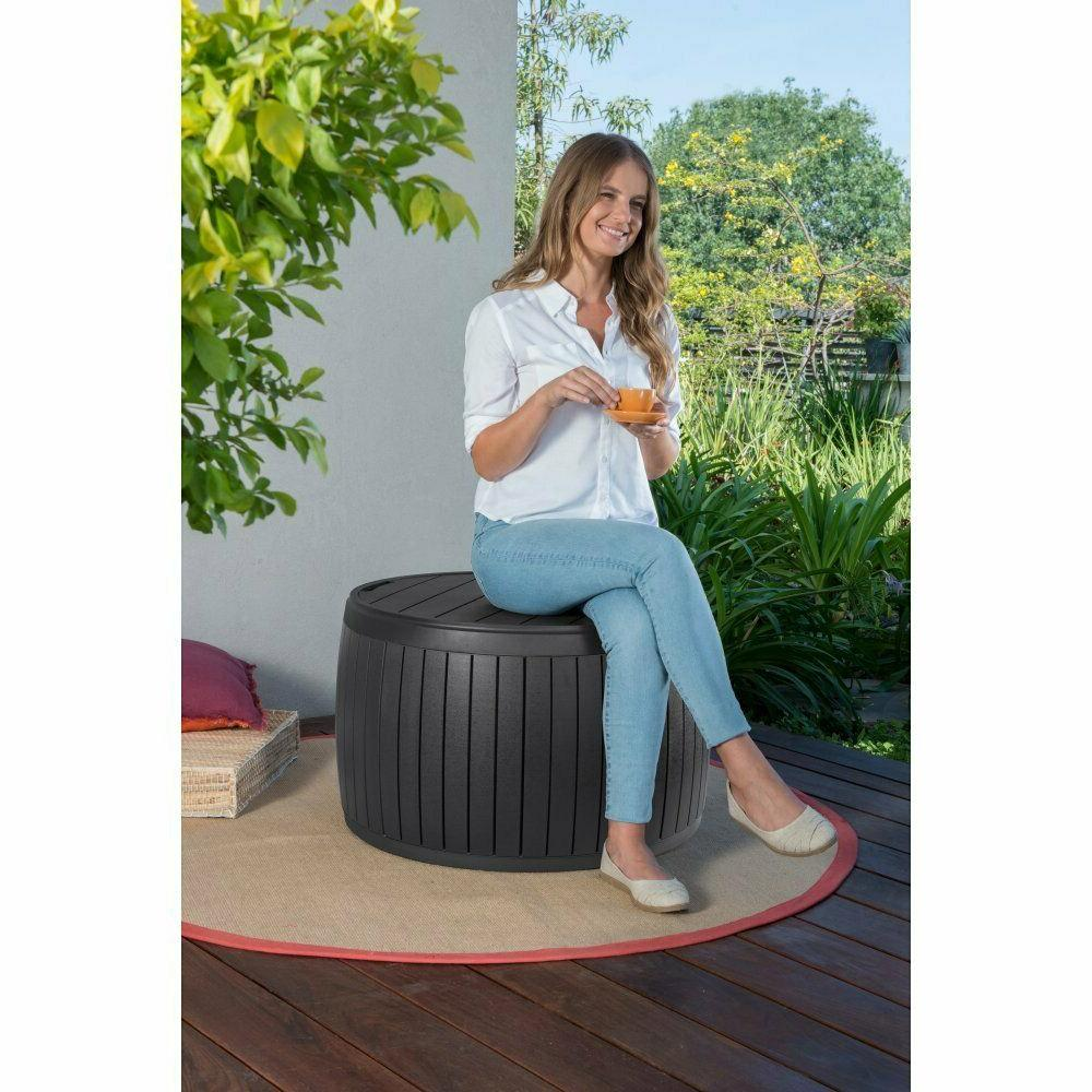 outdoor patio coffee side table storage deck