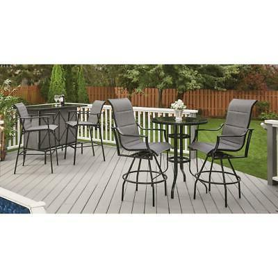Outdoor Patio Set Padded Seat Table NEW