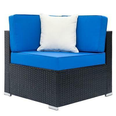 7PCS Patio Furniture Wicker Rattan Sofa Sectional