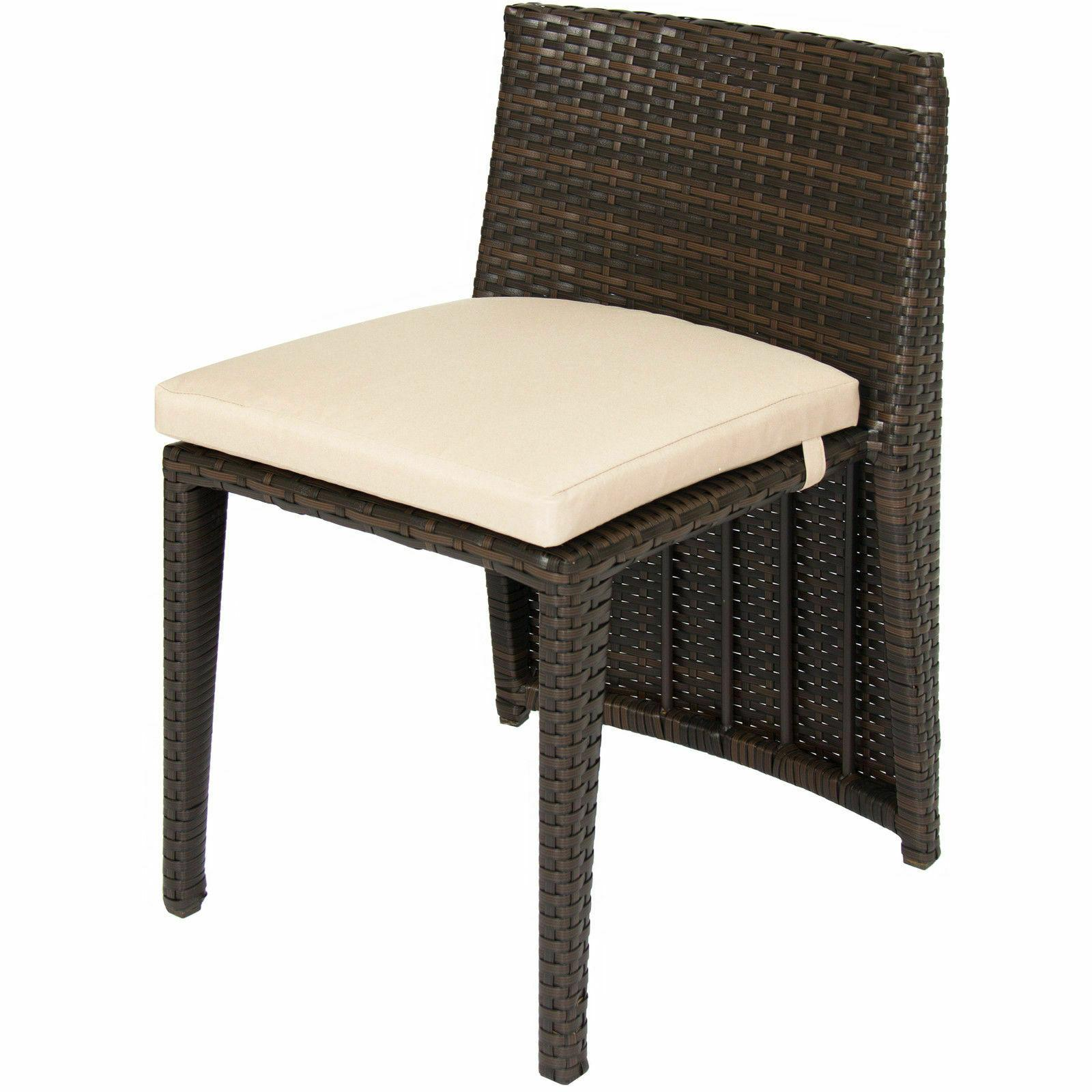 Outdoor Patio Furniture Top Chairs- Brown