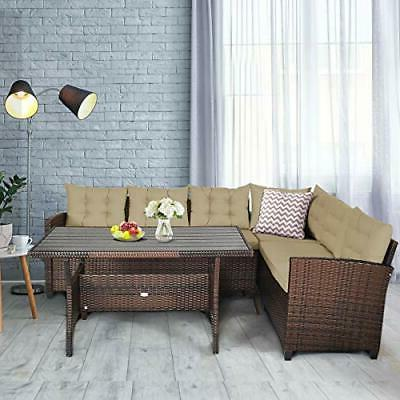 Outdoor Patio Wicker Furniture Sofa