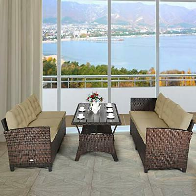 Outdoor Rattan Dining Set Sofa Couch