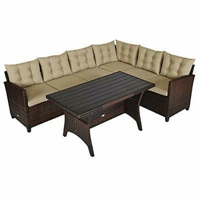 Outdoor Wicker Rattan Dining Sofa Cushions