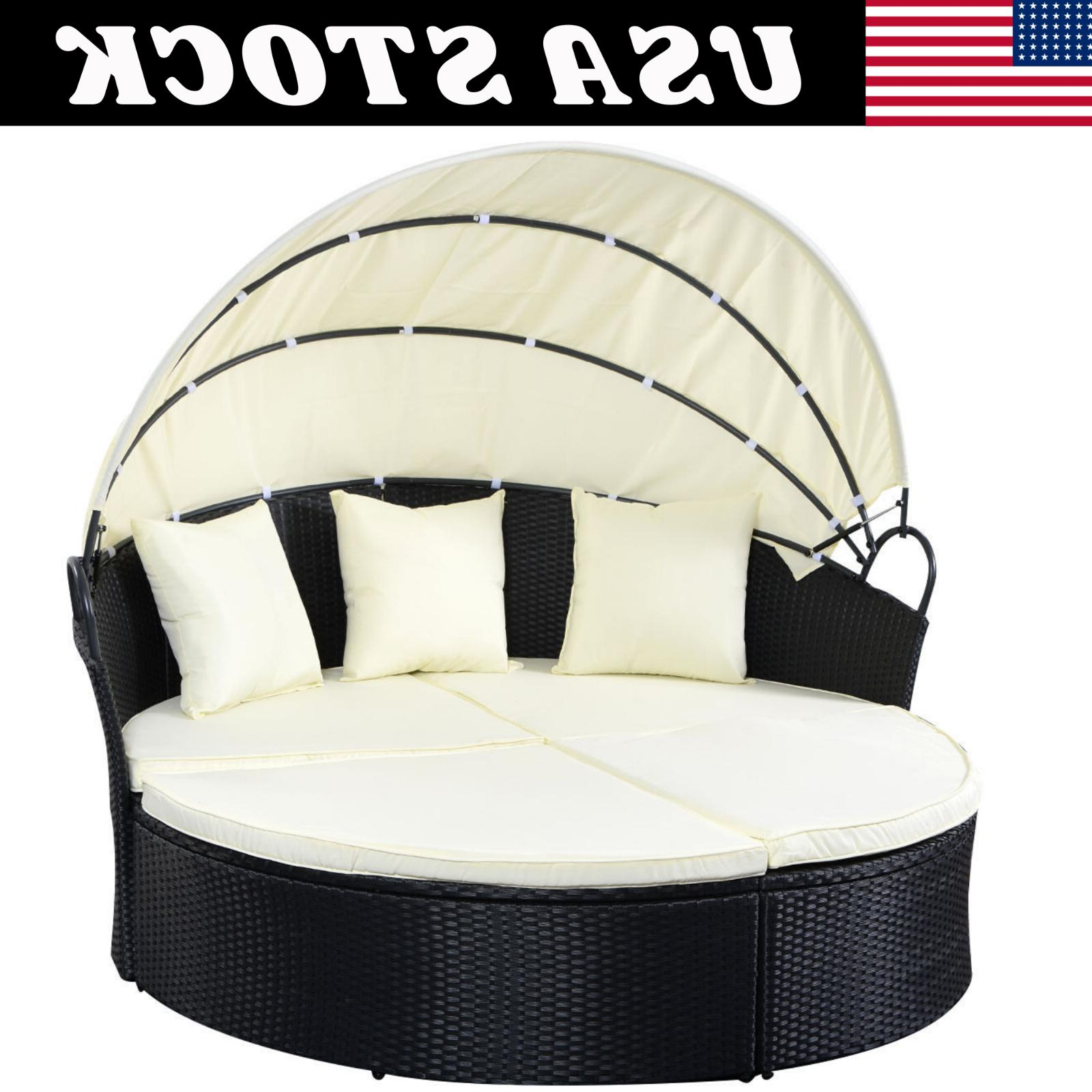 Outdoor Rattan Furniture Canopy Daybed