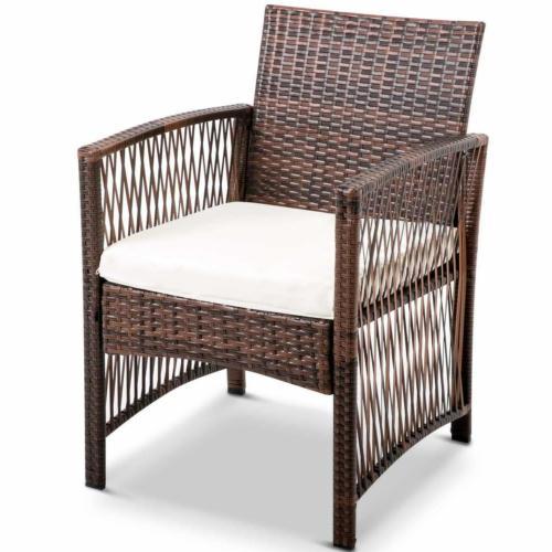 4PCS Patio Rattan Wicker Table Shelf Furniture Set