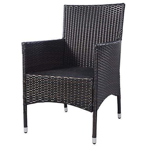 Tangkula Pcs Armchair Single Set Outdoor Wicker Rattan PE Furniture Sofa Set W/Cushions …