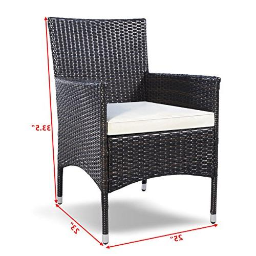 Armchair Single Set Outdoor Modern Wicker Rattan PE Furniture Set Brown …