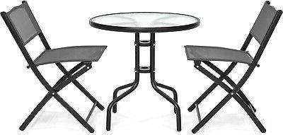 Patio Dining Furniture Set w/Round