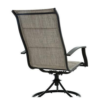 Steel Woven Garden Furniture 4 Swivel Top