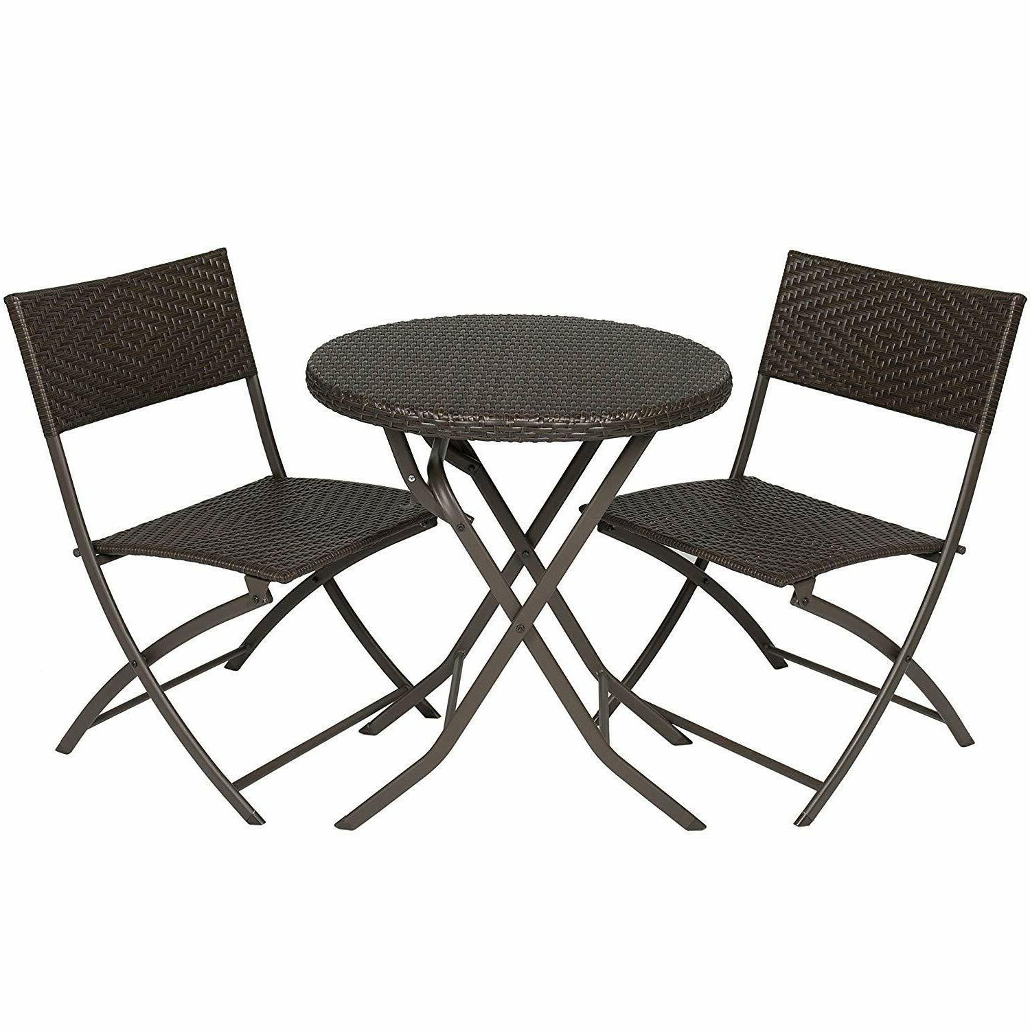 Patio Dining Set Garden 2 Chairs Table