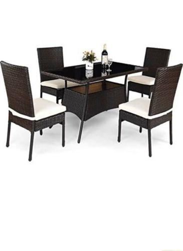 patio furniture 5 pcs all weather dining