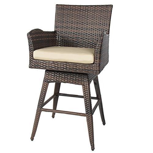 patio furniture pe wicker swivel