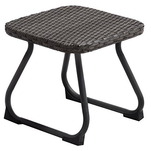 Tangkula 3 Outdoor Wicker Chair & Table