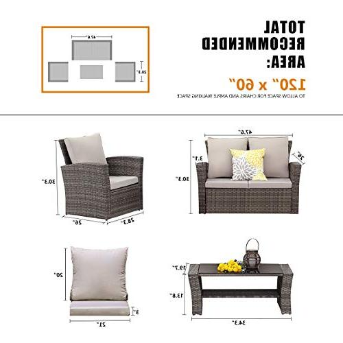 Wisteria 5 Outdoor Wicker Sectional with Seat