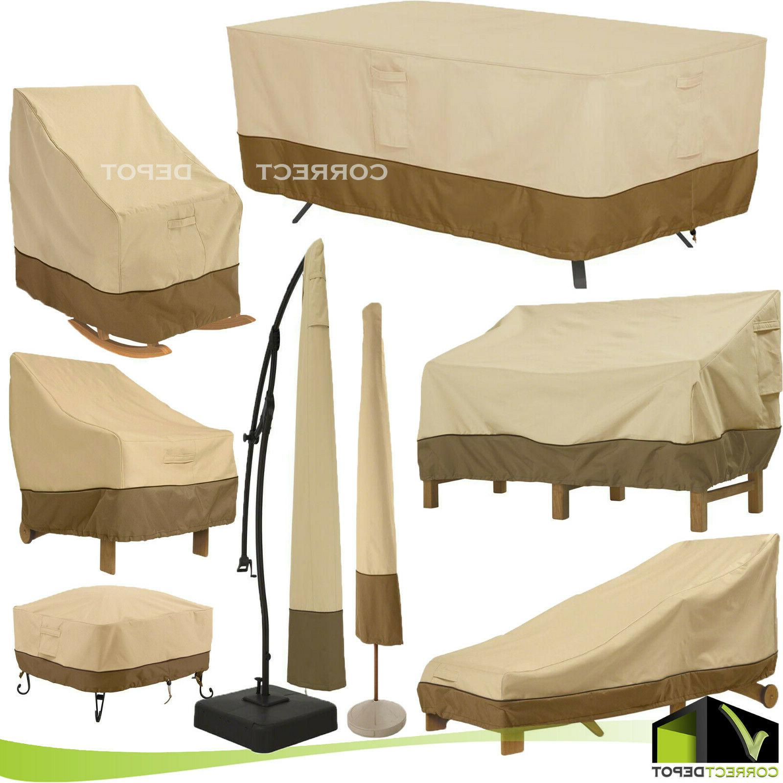 patio furniture waterproof covers outdoor assorted sizes