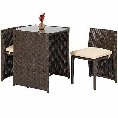 Best Choice Outdoor Patio Furniture Bistro W/ Glass Top 2 Brown