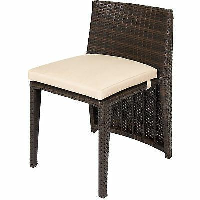 Best Choice Products Patio Wicker 3pc Bistro W/ Top Table, 2 Brown